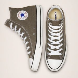 Converse Chuck Taylor High Top Shoes Grey All Star